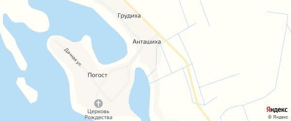 Карта деревни Грудихи в Архангельской области с улицами и номерами домов