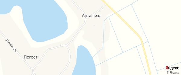 Заречная улица на карте деревни Грудихи с номерами домов