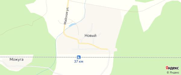 Карта Нового поселка в Архангельской области с улицами и номерами домов
