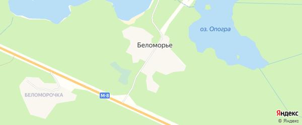 Карта поселка Беломорья в Архангельской области с улицами и номерами домов