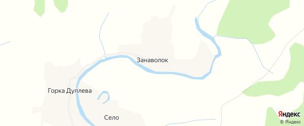 Карта деревни Занаволока в Архангельской области с улицами и номерами домов