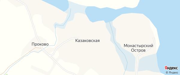 Березовая улица на карте Казаковской деревни с номерами домов