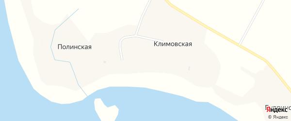 Центральная улица на карте Полинской деревни с номерами домов