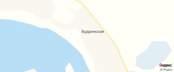 Будринская улица на карте Будринской деревни с номерами домов