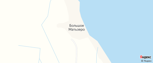 Урожайная улица на карте деревни Большого Матьзера с номерами домов
