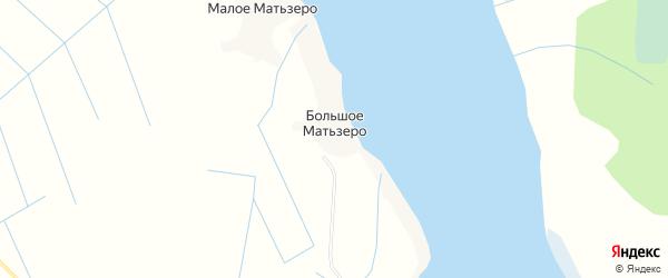 Карта деревни Большого Матьзера в Архангельской области с улицами и номерами домов