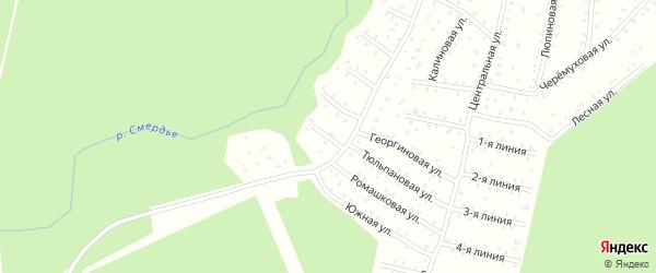 Улица Первых коммунаров 7-я Линия на карте населенного пункта СНТ Зори Севера с номерами домов