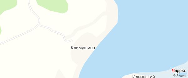 Высокая улица на карте деревни Климушиной с номерами домов