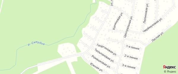 Улица Первых коммунаров 6-я Линия на карте населенного пункта СНТ Зори Севера с номерами домов