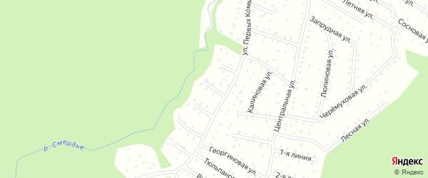 Улица Первых коммунаров 4-я Линия на карте населенного пункта СНТ Зори Севера с номерами домов