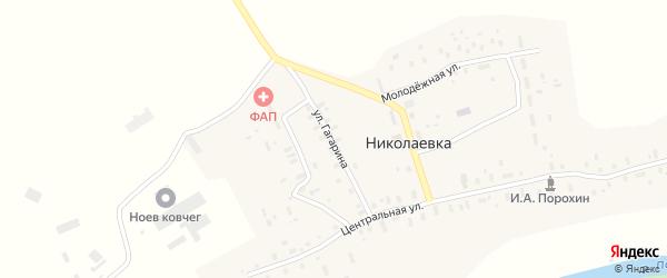 Улица Гагарина на карте деревни Николаевки с номерами домов