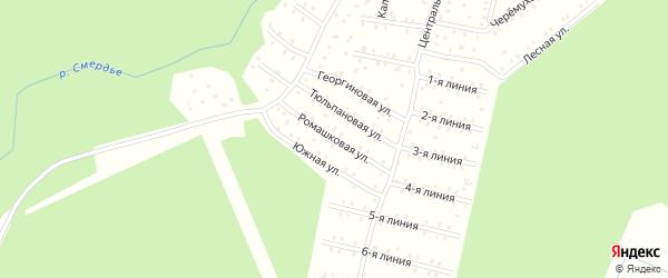 Ромашковая улица на карте населенного пункта СНТ Зори Севера с номерами домов