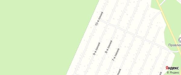 Улица 10-я Линия на карте населенного пункта СНТ Надежды с номерами домов