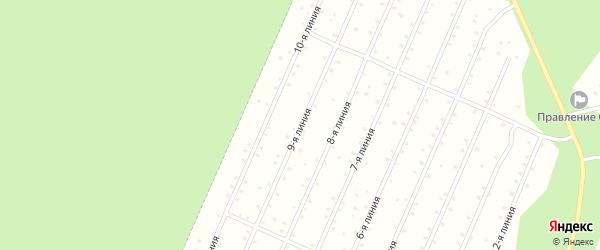 Улица 9-я Линия на карте населенного пункта СНТ Надежды с номерами домов