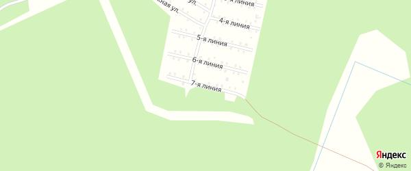 Улица Центральная 7-я Линия на карте населенного пункта СНТ Зори Севера с номерами домов