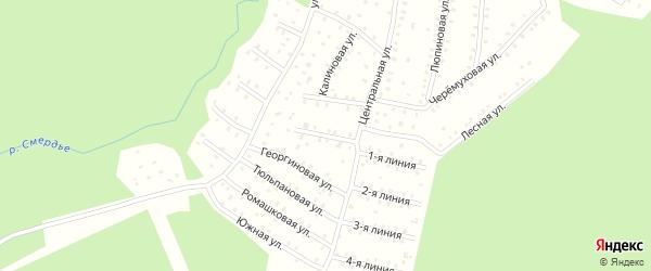 Флоксовая улица на карте населенного пункта СНТ Зори Севера с номерами домов