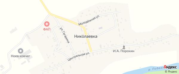Колхозная улица на карте деревни Николаевки с номерами домов