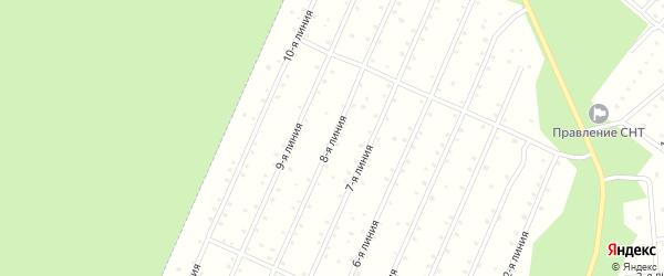Улица 8-я Линия на карте населенного пункта СНТ Надежды с номерами домов