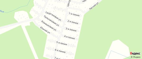Улица Центральная 3-я Линия на карте населенного пункта СНТ Зори Севера с номерами домов