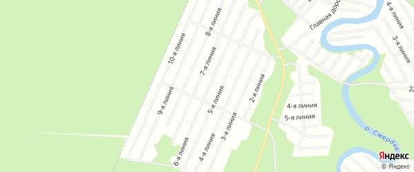 Карта населенного пункта СНТ Надежды города Новодвинска в Архангельской области с улицами и номерами домов