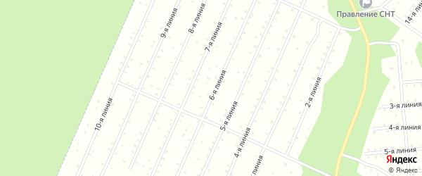 Улица 3-я Линия на карте населенного пункта СНТ Надежды с номерами домов