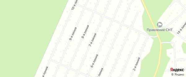 Улица 7-я Линия на карте населенного пункта СНТ Надежды с номерами домов