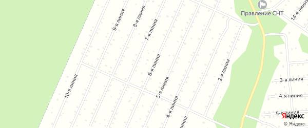 Улица 6-я Линия на карте населенного пункта СНТ Надежды с номерами домов