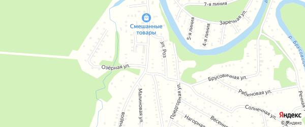 Солнечная улица на карте садового некоммерческого товарищества Садоводы Севера сад N2 с номерами домов
