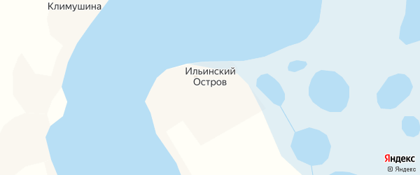 Церковная улица на карте деревни Ильинского Остров с номерами домов