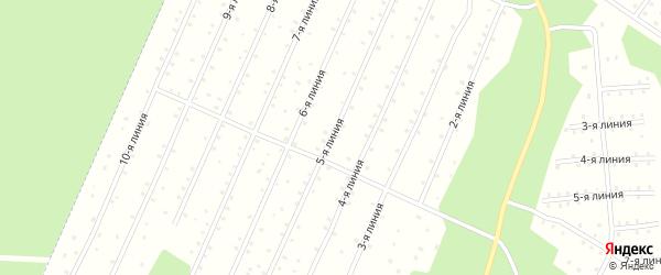 Улица 5-я Линия на карте населенного пункта СНТ Надежды с номерами домов