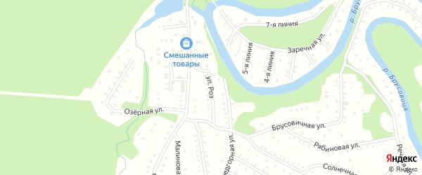 Улица Роз на карте населенного пункта СНТ Зори Севера с номерами домов