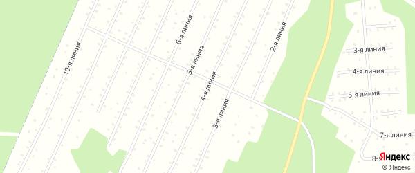 Улица 4-я Линия на карте населенного пункта СНТ Надежды с номерами домов