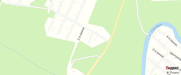 1-ая линия на карте населенного пункта СНТ Надежды с номерами домов