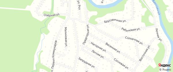 Предгорная улица на карте населенного пункта СНТ Зори Севера с номерами домов
