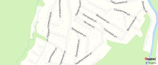 Запрудная улица на карте населенного пункта СНТ Зори Севера с номерами домов