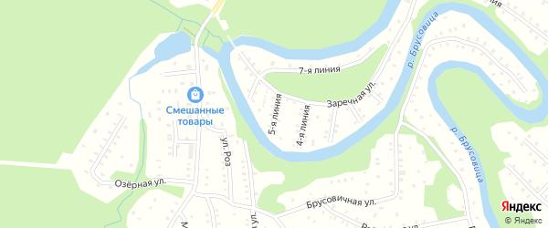 Улица Заречная 5-я Линия на карте населенного пункта СНТ Зори Севера с номерами домов