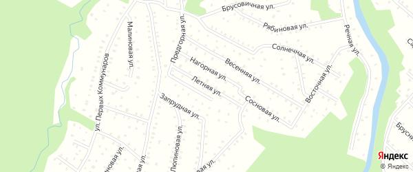 Летняя улица на карте населенного пункта СНТ Зори Севера с номерами домов
