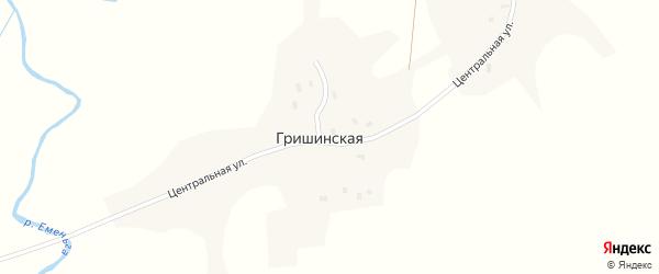 Никишинская улица на карте Гришинской деревни с номерами домов