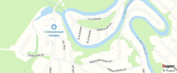 Улица Заречная 4-я Линия на карте населенного пункта СНТ Зори Севера с номерами домов
