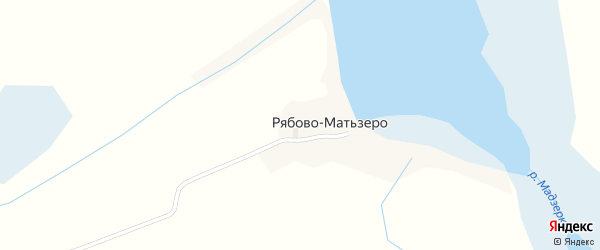 Тростниковая улица на карте деревни Рябова-Матьзера с номерами домов