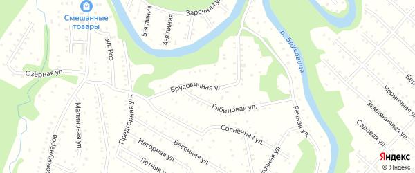Брусовичная улица на карте населенного пункта СНТ Зори Севера с номерами домов