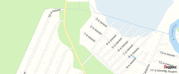 Улица 1-я Линия на карте населенного пункта СТ Дружбы с номерами домов
