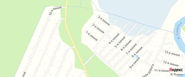 Улица 6-я линия на карте садового некоммерческого товарищества Сады 7 с номерами домов