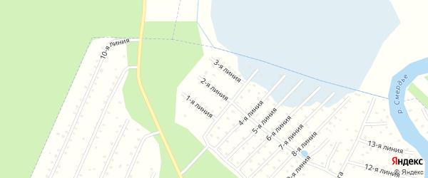 Улица 2-я Линия на карте населенного пункта СТ Дружбы с номерами домов