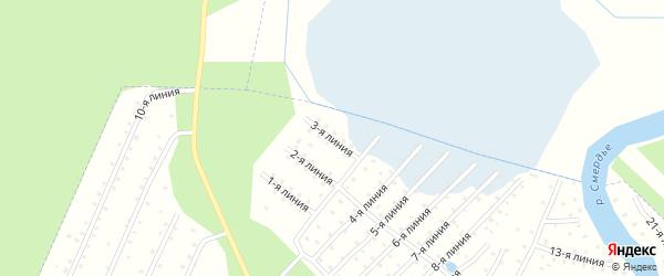 Улица 3-я Линия на карте населенного пункта СТ Дружбы с номерами домов