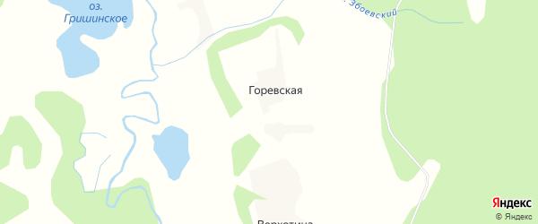 Карта Горевской деревни в Архангельской области с улицами и номерами домов
