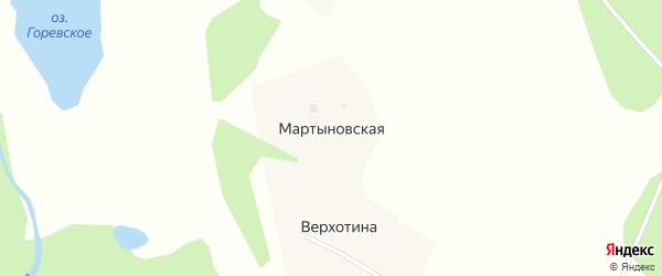 Центральная улица на карте Мартыновской деревни с номерами домов