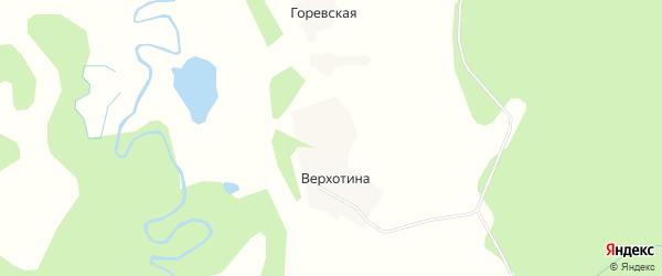 Карта Мартыновской деревни в Архангельской области с улицами и номерами домов