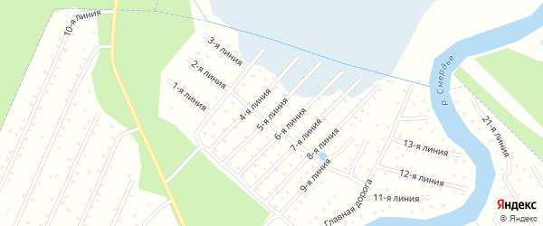 Улица 5-я Линия на карте населенного пункта СТ Дружбы с номерами домов