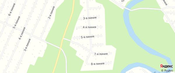 Улица 5-я Линия на карте населенного пункта СНТ Радуги с номерами домов